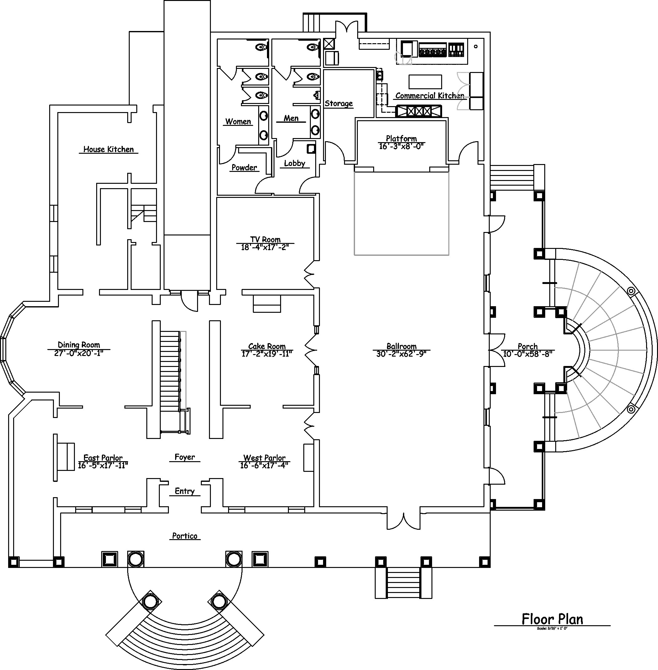 Floor plan the o 39 donnell house for Mansion floor plans with ballroom